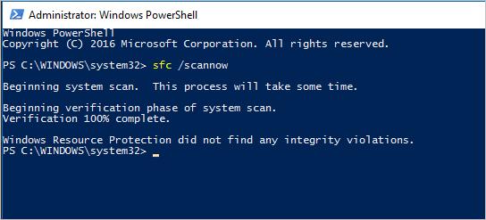Không có vấn đề với quét SFC trong Windows 10
