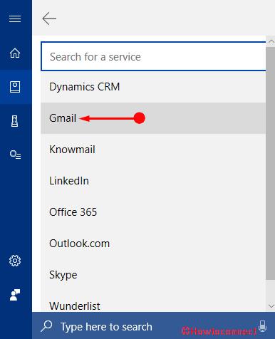 Thêm Tài khoản Gmail vào Ảnh Cortana 4