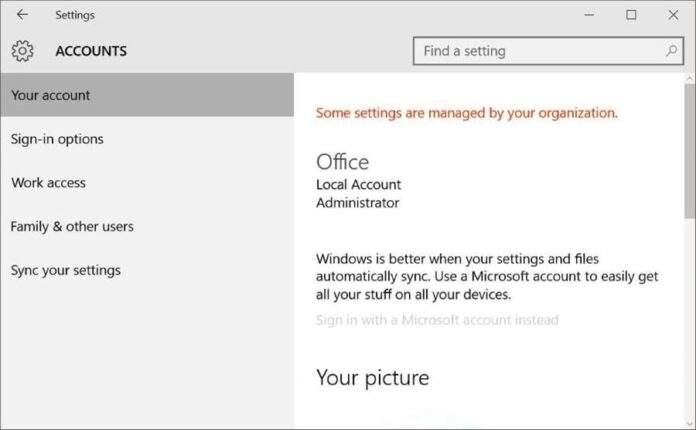 How to Disable / Block Microsoft Account In Windows 10