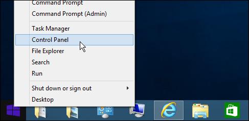 Control Panel của Windows 8