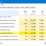Desktop Window Manager dwm.exe consumes high CPU or memory