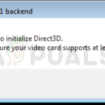 Fix: Failed to initialize Direct3D error