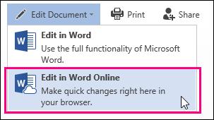 Edit in Word Online