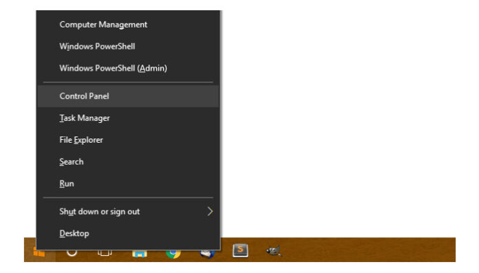 Windows 10 Control Panel Restore disappeared from the WinX menu