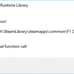 Fix: Microsoft Visual C ++ Runtime Library Error - Runtime Error R6025