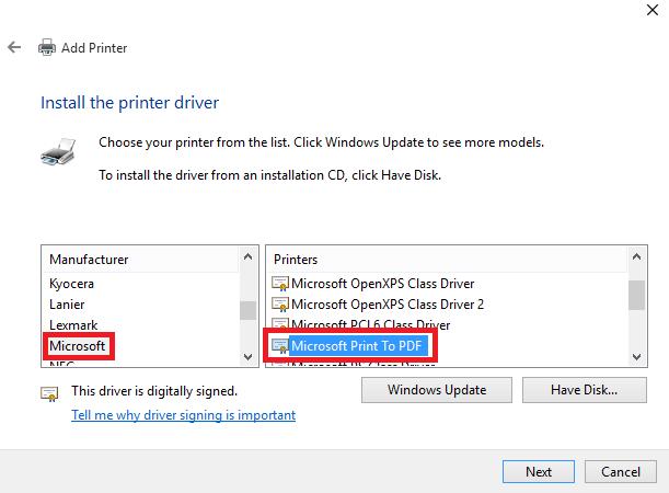 In sang PDF trong Windows
