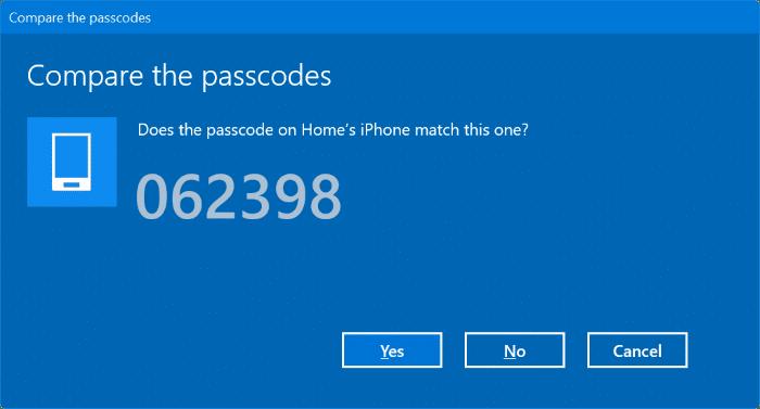 Ghép nối iphone với Windows 10 qua Bluetooth (3)
