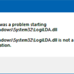"Fix ""There was a problem starting C:  Windows  System32  LogiLDA.dll"" error when booting in Windows 10"