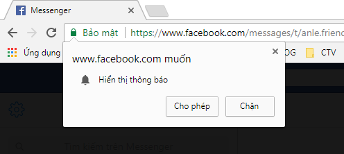 Google Chrome website notifications