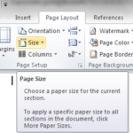 How to compose Word documents on A5 paper size