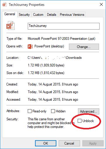 không mở được PowerPoint trong Windows 10